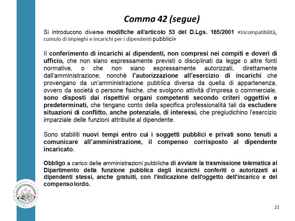 Si introducono diverse modifiche all'articolo 53 del D.Lgs.