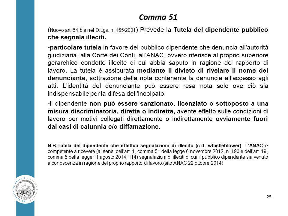 ( Nuovo art. 54 bis nel D.Lgs. n.