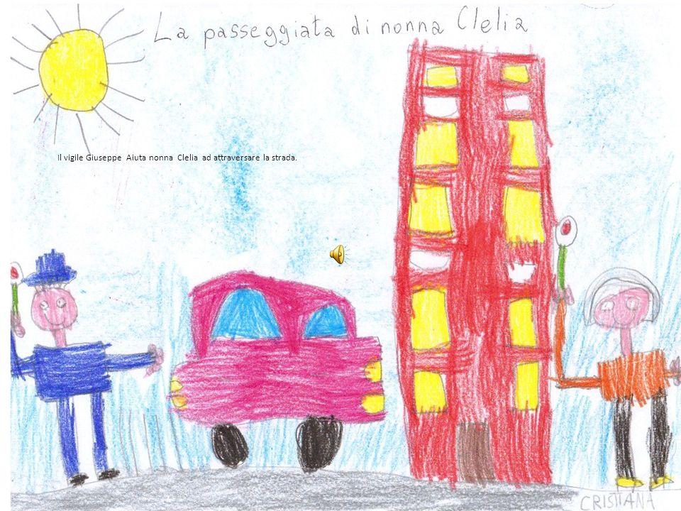 Il vigile Giuseppe Aiuta nonna Clelia ad attraversare la strada.
