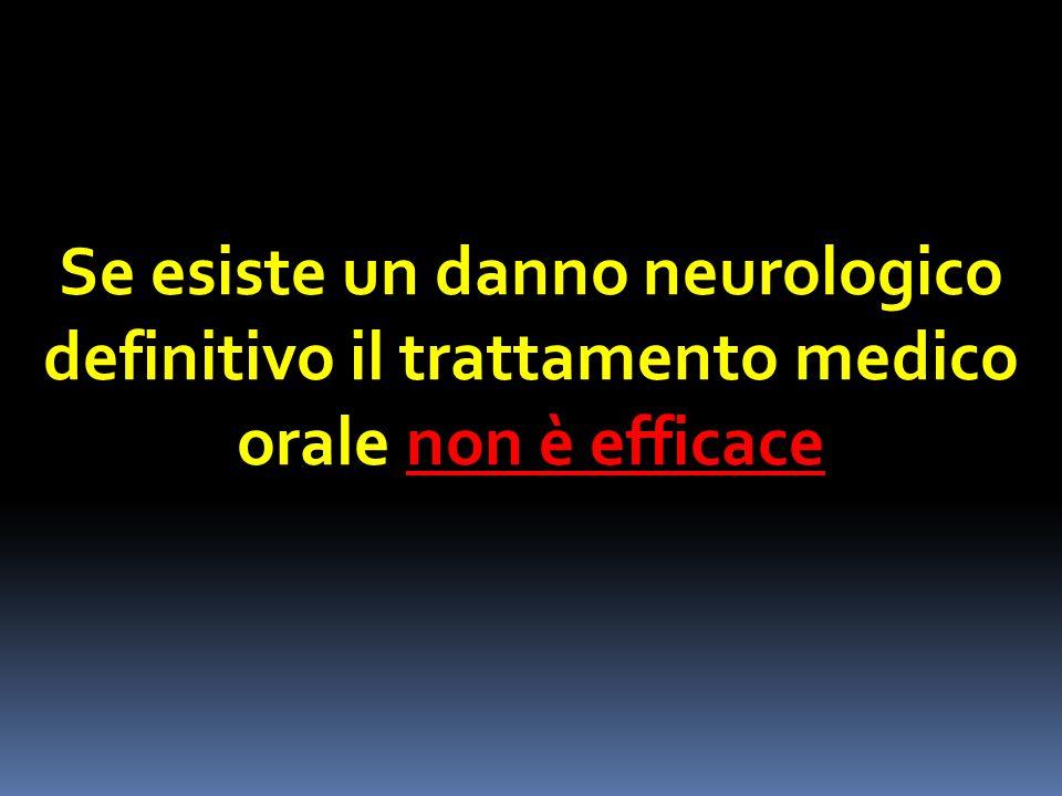 Se esiste un danno neurologico definitivo il trattamento medico orale non è efficace