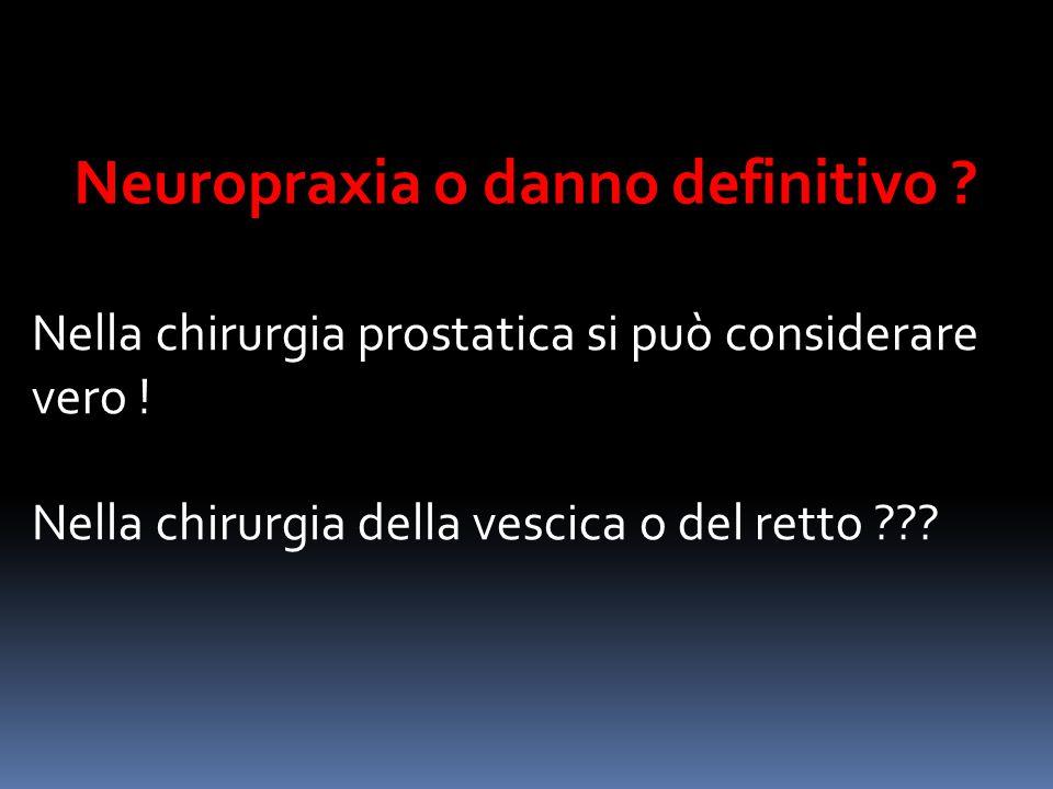 Neuropraxia o danno definitivo ? Nella chirurgia prostatica si può considerare vero ! Nella chirurgia della vescica o del retto ???