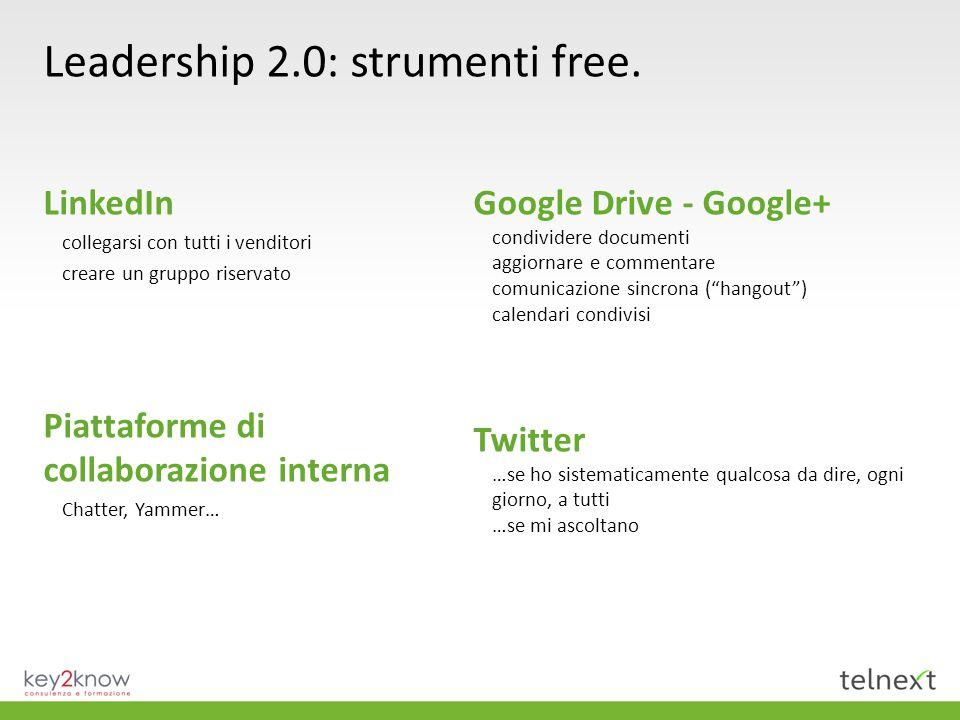 Leadership 2.0: strumenti free.