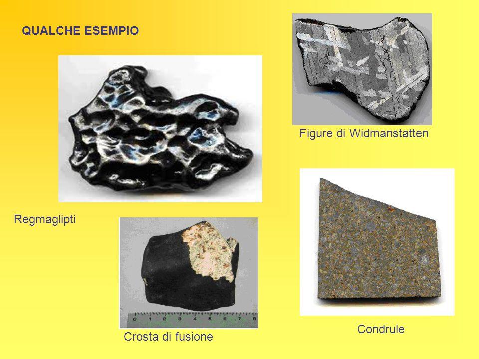 Figure di Widmanstatten Regmaglipti Condrule Crosta di fusione QUALCHE ESEMPIO