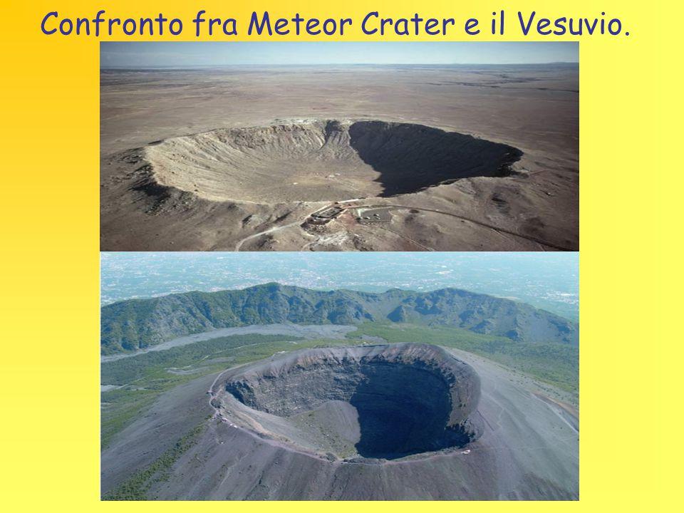 Confronto fra Meteor Crater e il Vesuvio.
