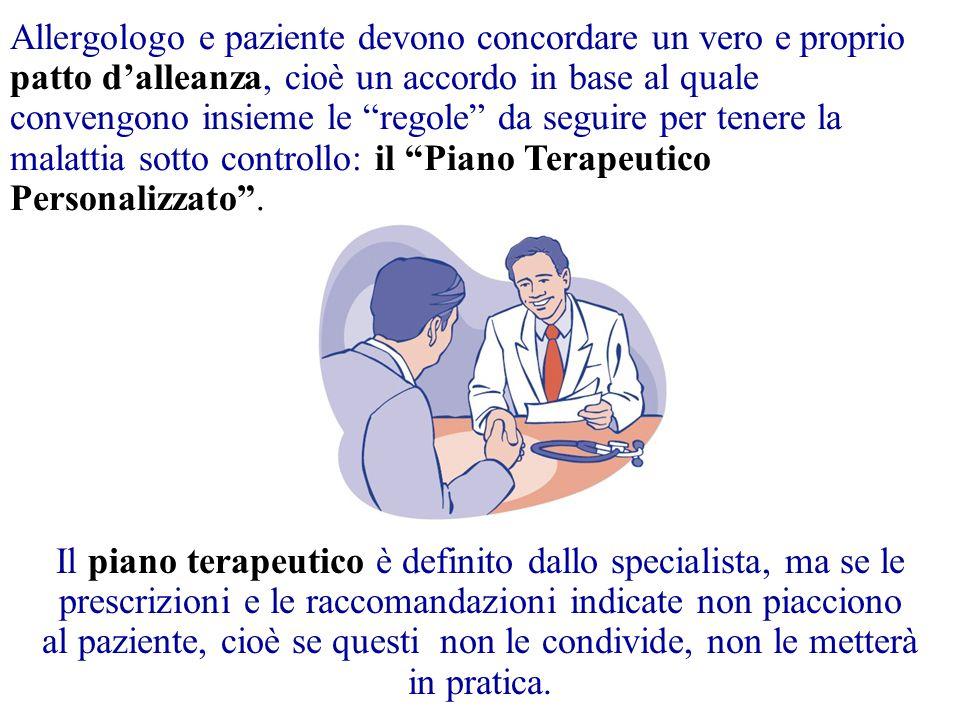 """Allergologo e paziente devono concordare un vero e proprio patto d'alleanza, cioè un accordo in base al quale convengono insieme le """"regole"""" da seguir"""