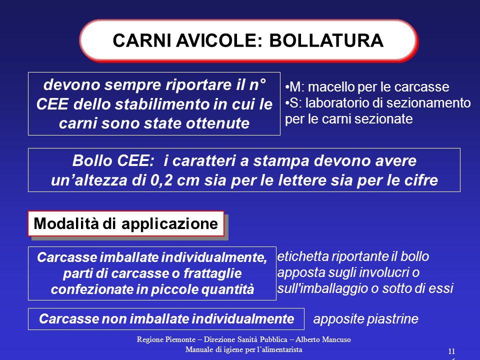 Regione Piemonte – Direzione Sanità Pubblica – Alberto Mancuso Manuale di igiene per l'alimentarista 115 Sul cartello devono comparire denominazione d