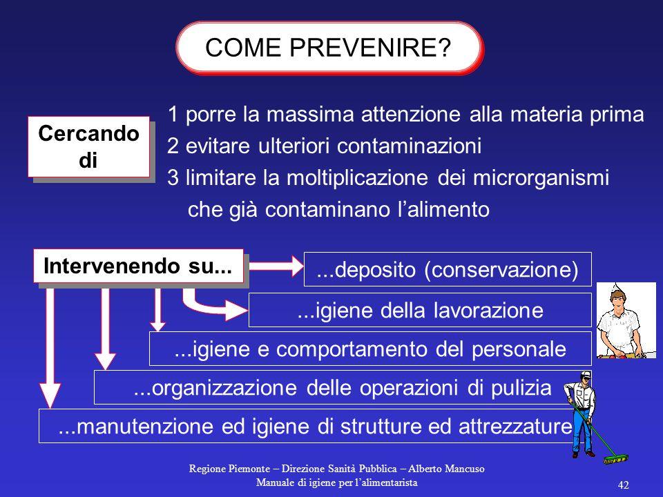 Regione Piemonte – Direzione Sanità Pubblica – Alberto Mancuso Manuale di igiene per l'alimentarista 41 pensando che... noi conviviamo con i microrgan