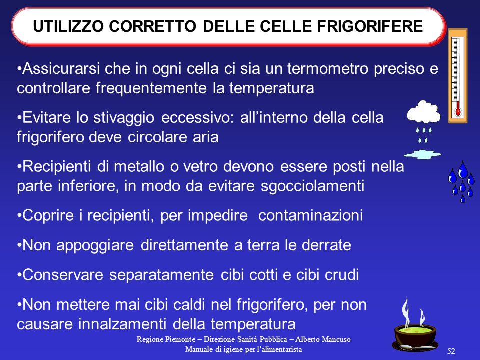 Regione Piemonte – Direzione Sanità Pubblica – Alberto Mancuso Manuale di igiene per l'alimentarista 51 è direttamente in funzione del tempo e della t