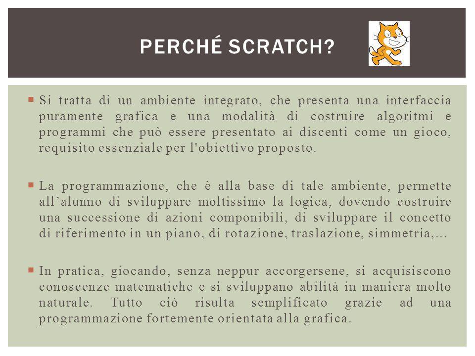  La parte più importante per realizzare un lavoro con Scratch è la progettazione.