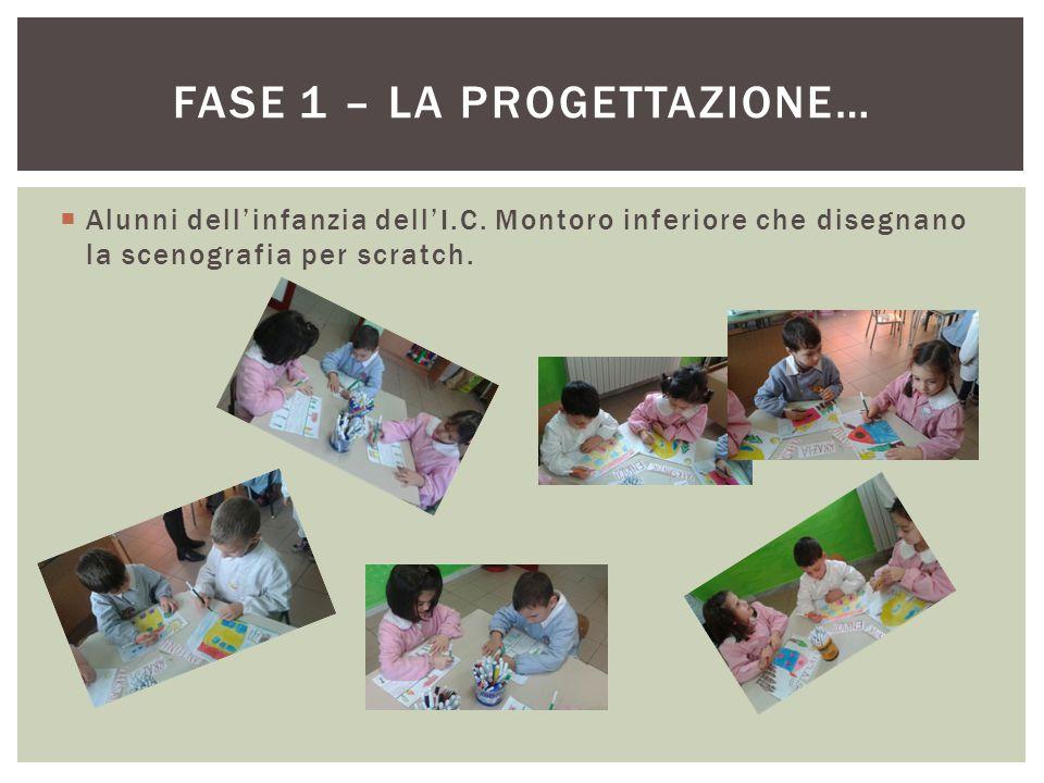  Alunni dell'infanzia dell'I.C.Montoro superiore che creano schede su concetti tipologici.