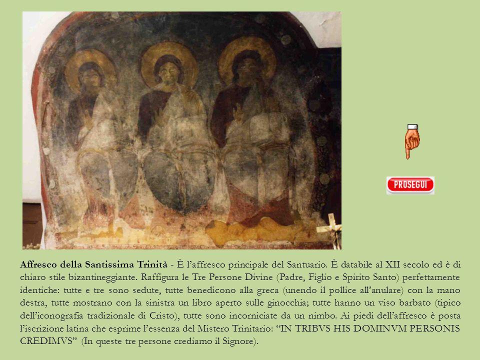 Cappella che custodisce l'affresco della Santissima Trinità