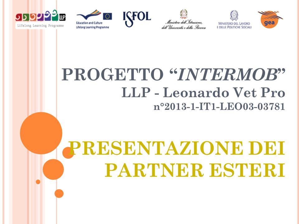 PROGETTO INTERMOB LLP - Leonardo Vet Pro n°2013-1-IT1-LEO03-03781 PRESENTAZIONE DEI PARTNER ESTERI