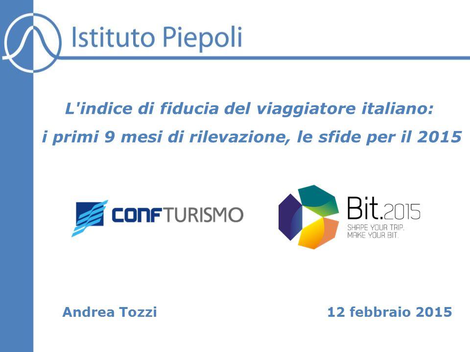 12 febbraio 2015 L indice di fiducia del viaggiatore italiano: i primi 9 mesi di rilevazione, le sfide per il 2015 Andrea Tozzi