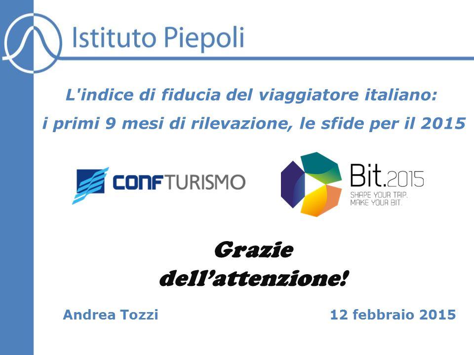 12 febbraio 2015 L indice di fiducia del viaggiatore italiano: i primi 9 mesi di rilevazione, le sfide per il 2015 Andrea Tozzi Grazie dell'attenzione!