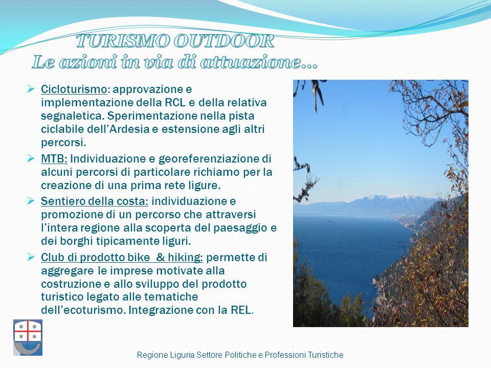  Cicloturismo: approvazione e implementazione della RCL e della relativa segnaletica.