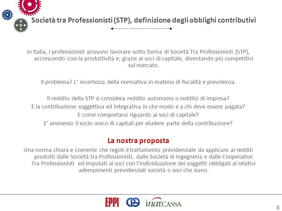 5 Società tra Professionisti (STP), definizione degli obblighi contributivi In Italia, i professionisti possono lavorare sotto forma di Società Tra Pr