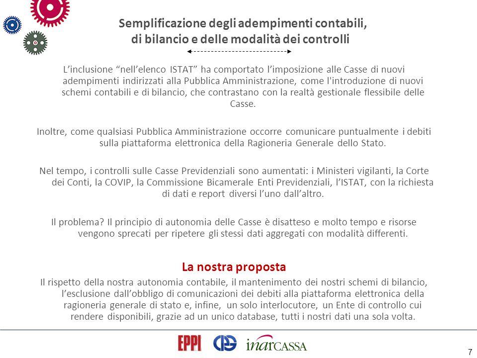 """7 Semplificazione degli adempimenti contabili, di bilancio e delle modalità dei controlli L'inclusione """"nell'elenco ISTAT"""" ha comportato l'imposizione"""