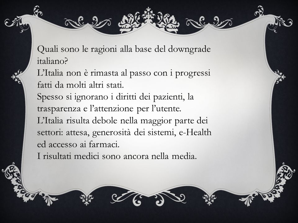Quali sono le ragioni alla base del downgrade italiano.