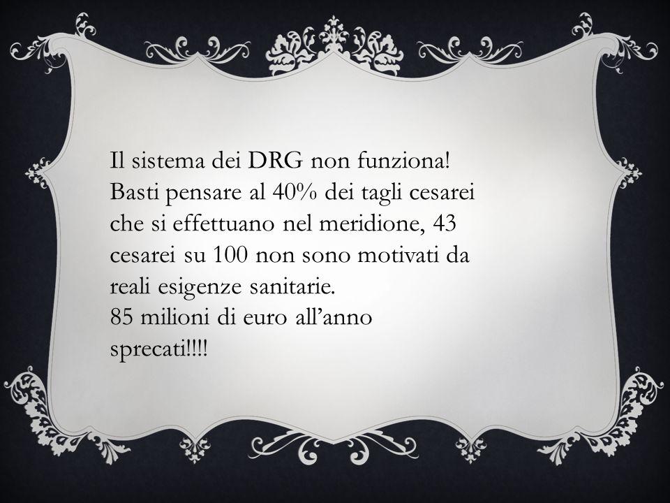 Il sistema dei DRG non funziona.