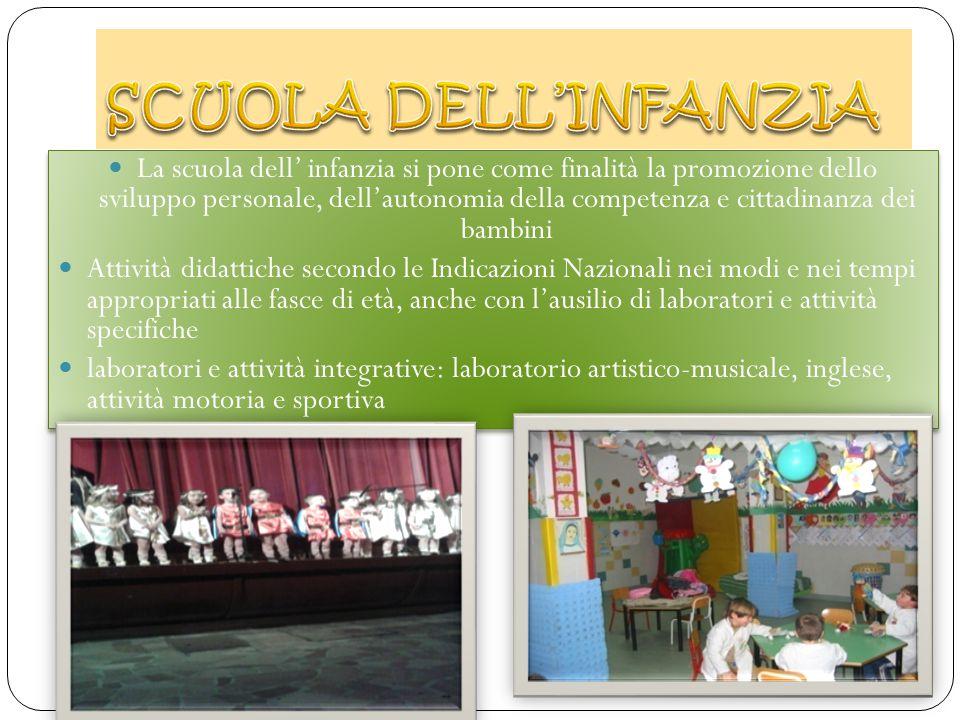 La scuola dell' infanzia si pone come finalità la promozione dello sviluppo personale, dell'autonomia della competenza e cittadinanza dei bambini Atti