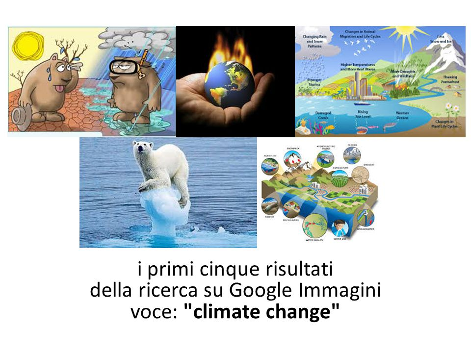 i primi cinque risultati della ricerca su Google Immagini voce: climate change