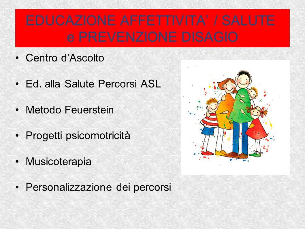 EDUCAZIONE AFFETTIVITA' / SALUTE e PREVENZIONE DISAGIO Centro d'Ascolto Ed.