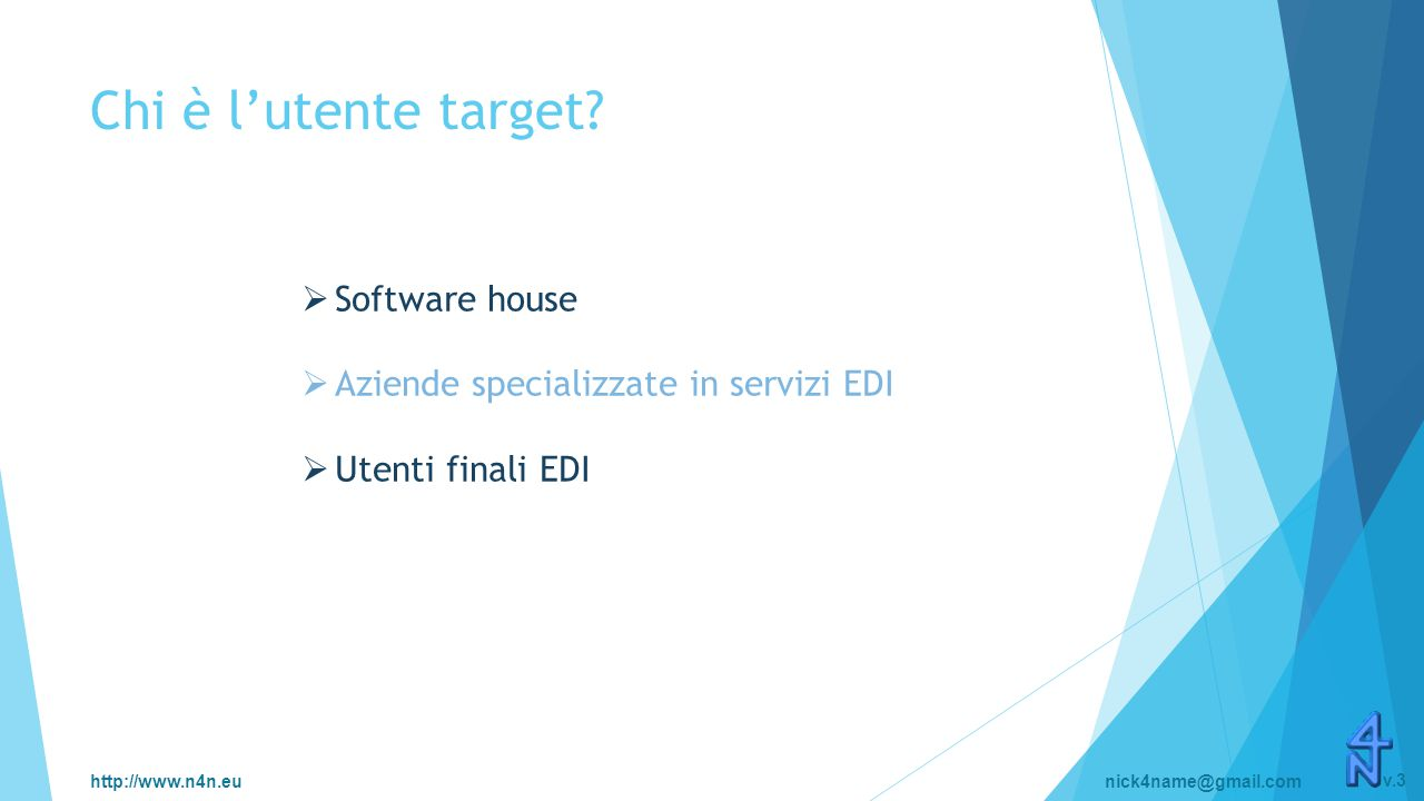 http://www.n4n.eunick4name@gmail.com v.3 Chi è l'utente target.