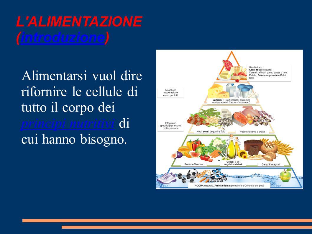 I PRINCIPI NUTRITIVI ACQUA SALI MINERALI CARBOIDRATI LIPIDI PROTEINE VITAMINE