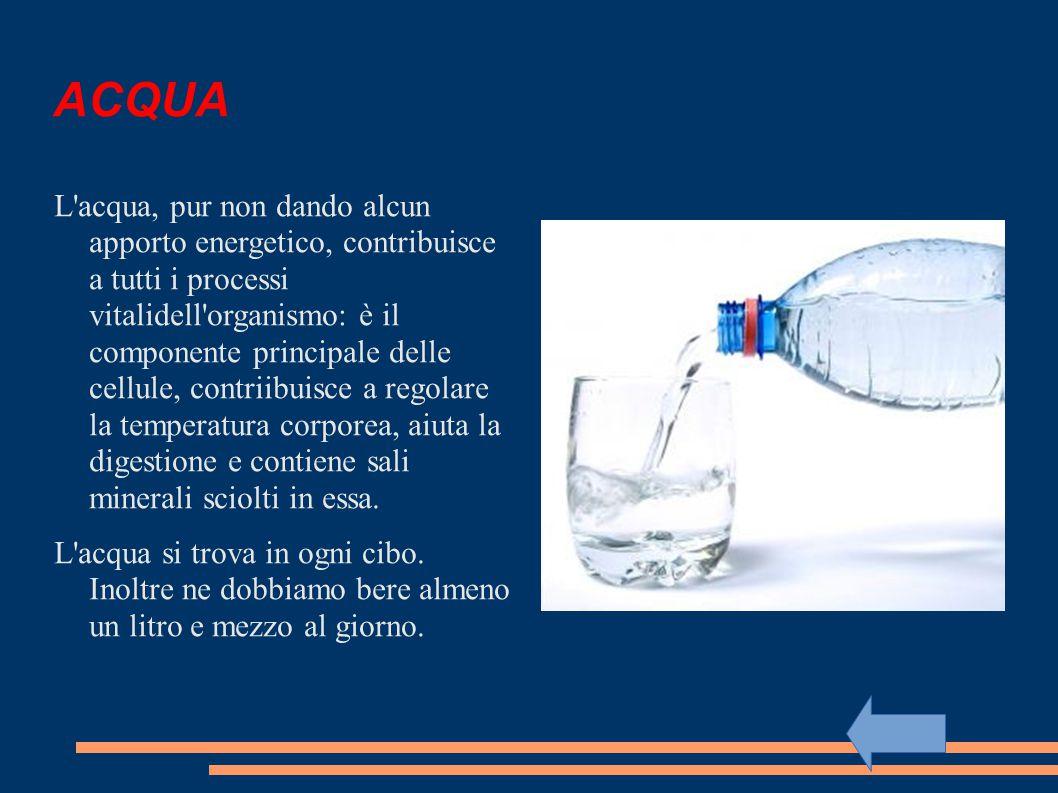 SALI MINERALI Le funzioni dei sali minerali sono plastica, regolatrice e protettiva.