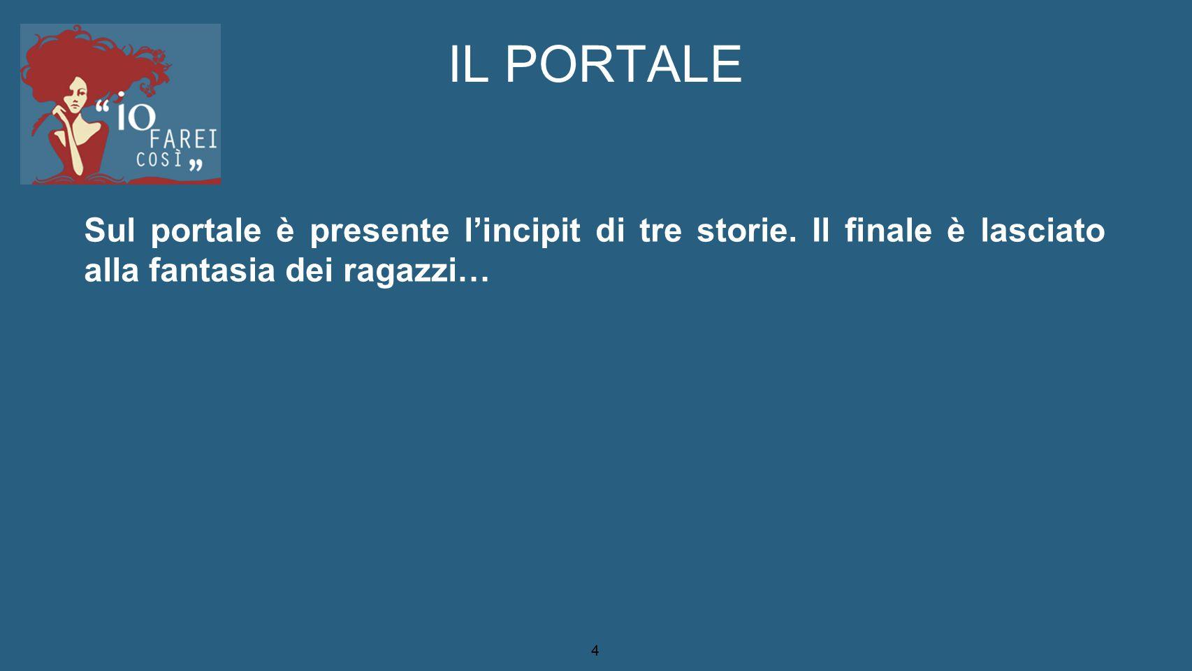 5 LE STORIE / gli argomenti UN'IDEA POSSIBILE BELLI.