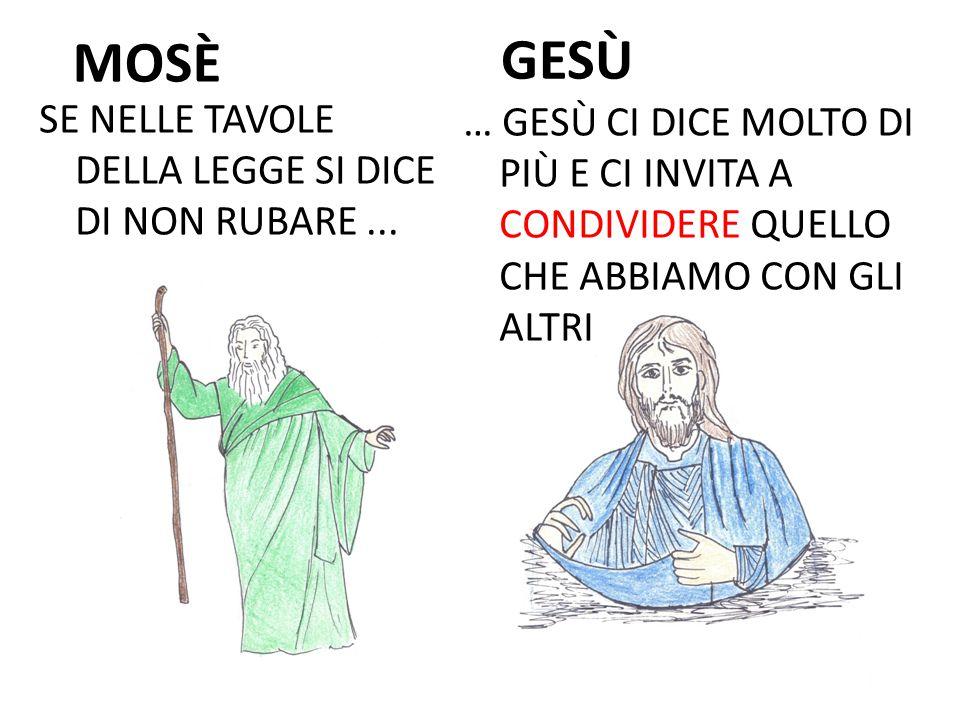 MOSÈ SE NELLE TAVOLE DELLA LEGGE SI DICE DI NON RUBARE...