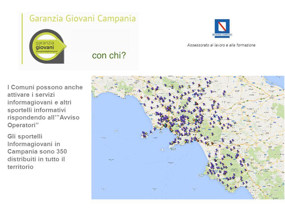 """I Comuni possono anche attivare i servizi informagiovani e altri sportelli informativi rispondendo all'""""Avviso Operatori"""" Gli sportelli Informagiovani"""