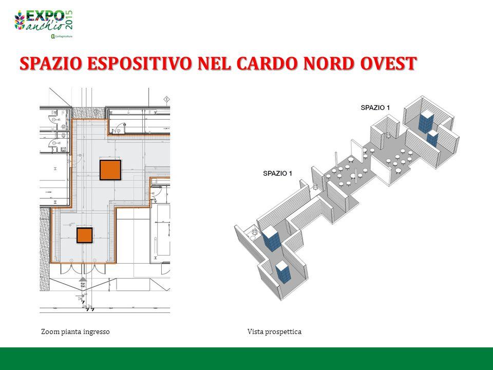 Zoom pianta ingresso Vista prospettica SPAZIO ESPOSITIVO NEL CARDO NORD OVEST