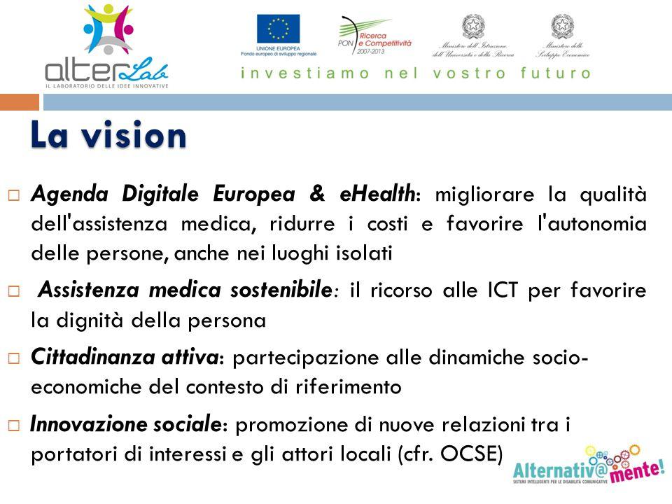La vision La vision  Agenda Digitale Europea & eHealth: migliorare la qualità dell'assistenza medica, ridurre i costi e favorire l'autonomia delle pe