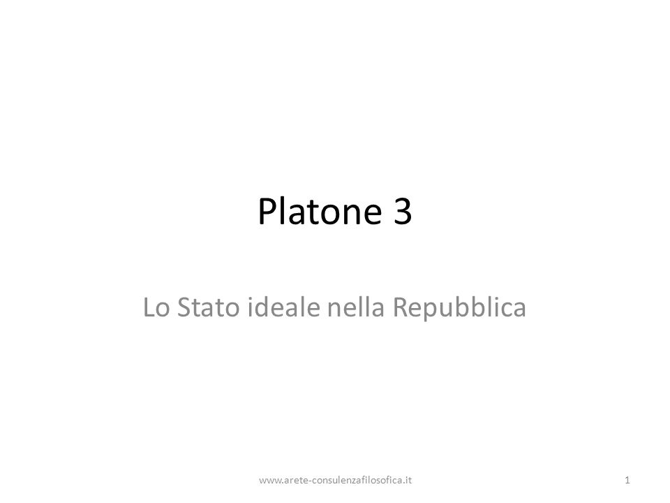 I filosofi nello Stato Una riforma politica non può prescindere dalla virtù e dal bene.