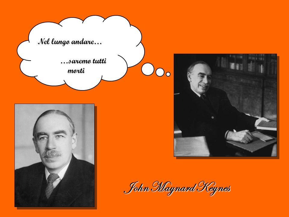 John Maynard Keynes Nel lungo andare… …saremo tutti morti …saremo tutti morti
