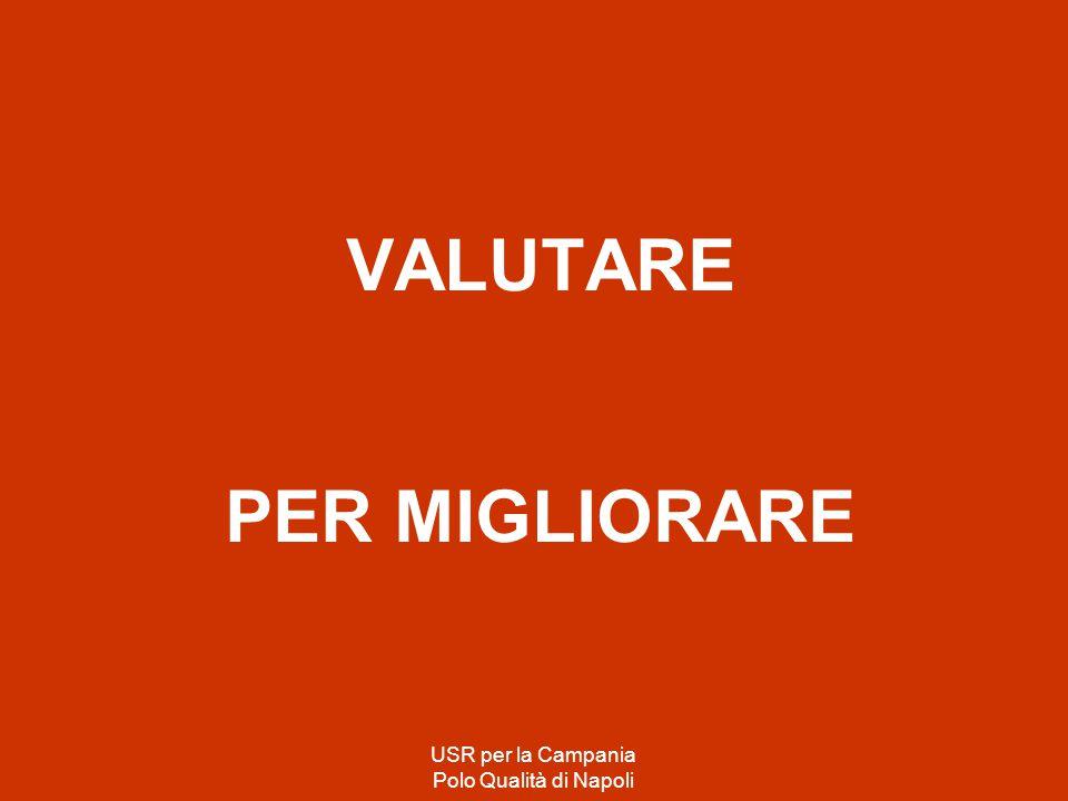 VALUTARE PER MIGLIORARE USR per la Campania Polo Qualità di Napoli