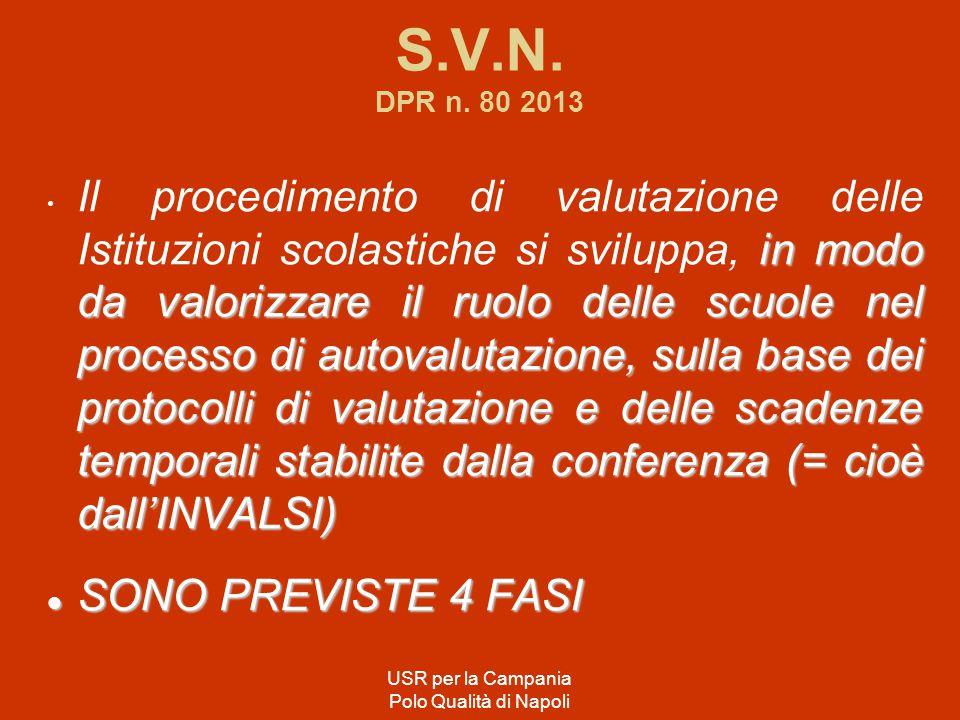 S.V.N. DPR n. 80 2013 in modo da valorizzare il ruolo delle scuole nel processo di autovalutazione, sulla base dei protocolli di valutazione e delle s