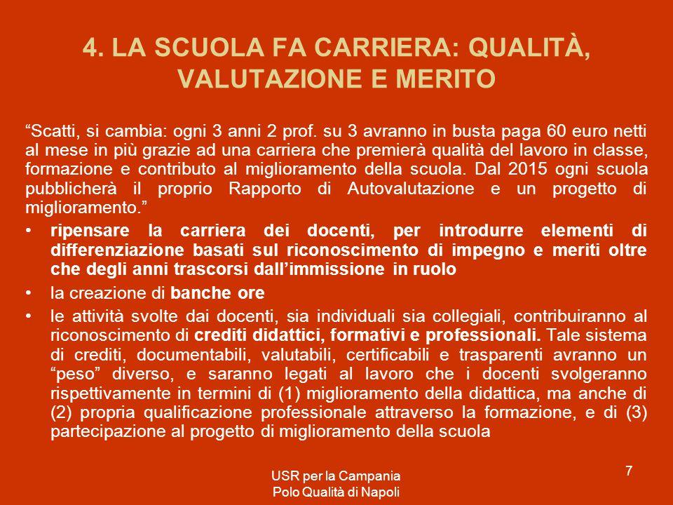 FONDATA SUL LAVORO (la Repubblica, non la scuola...) USR per la Campania Polo Qualità di Napoli