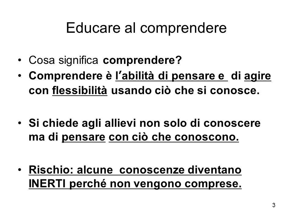 3 Educare al comprendere Cosa significa comprendere.