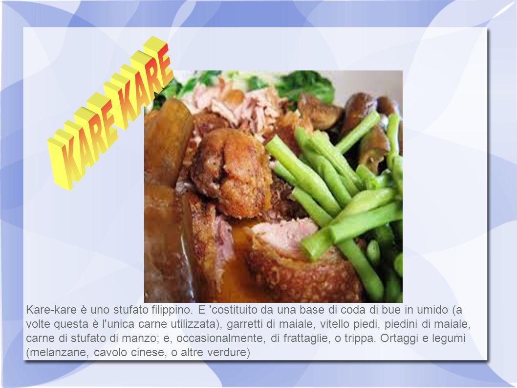 Kare-kare è uno stufato filippino. E 'costituito da una base di coda di bue in umido (a volte questa è l'unica carne utilizzata), garretti di maiale,