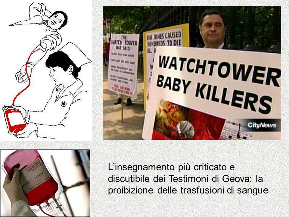 L'insegnamento più criticato e discutibile dei Testimoni di Geova: la proibizione delle trasfusioni di sangue