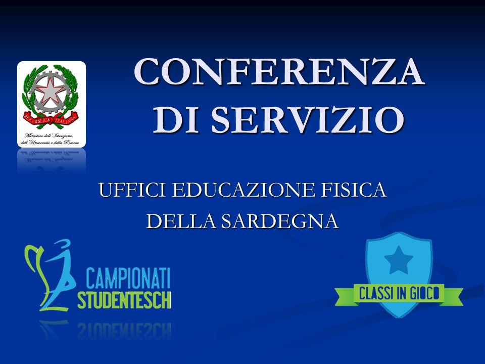 CONFERENZA DI SERVIZIO UFFICI EDUCAZIONE FISICA DELLA SARDEGNA