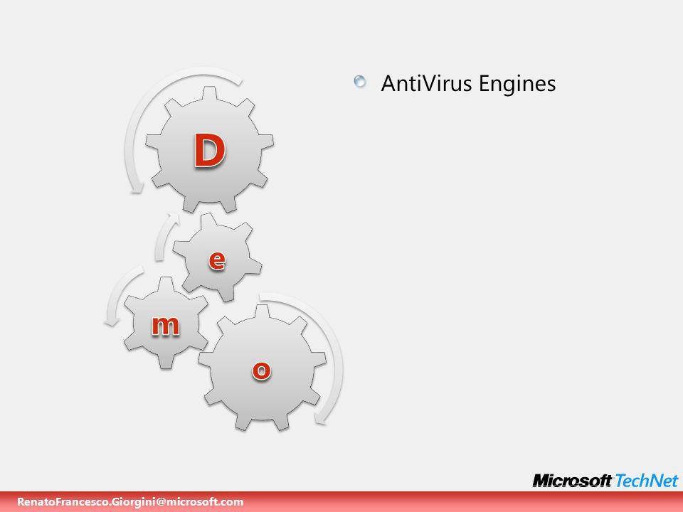 RenatoFrancesco.Giorgini@microsoft.com AntiVirus Engines