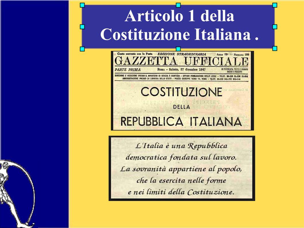 Articolo 1 della Costituzione Italiana.