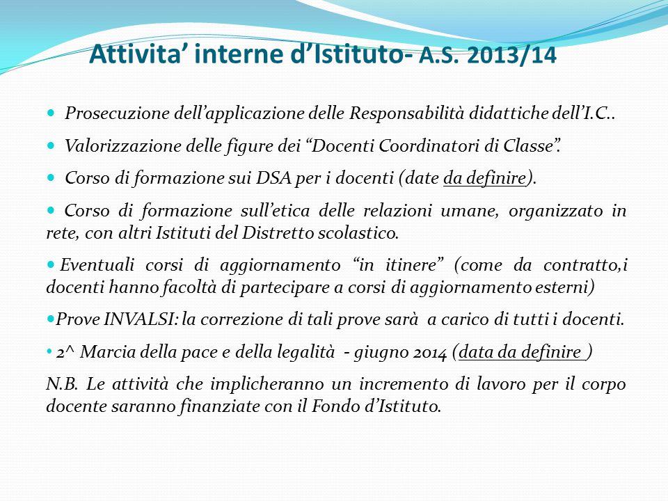 Attivita' interne d'Istituto- A.S.
