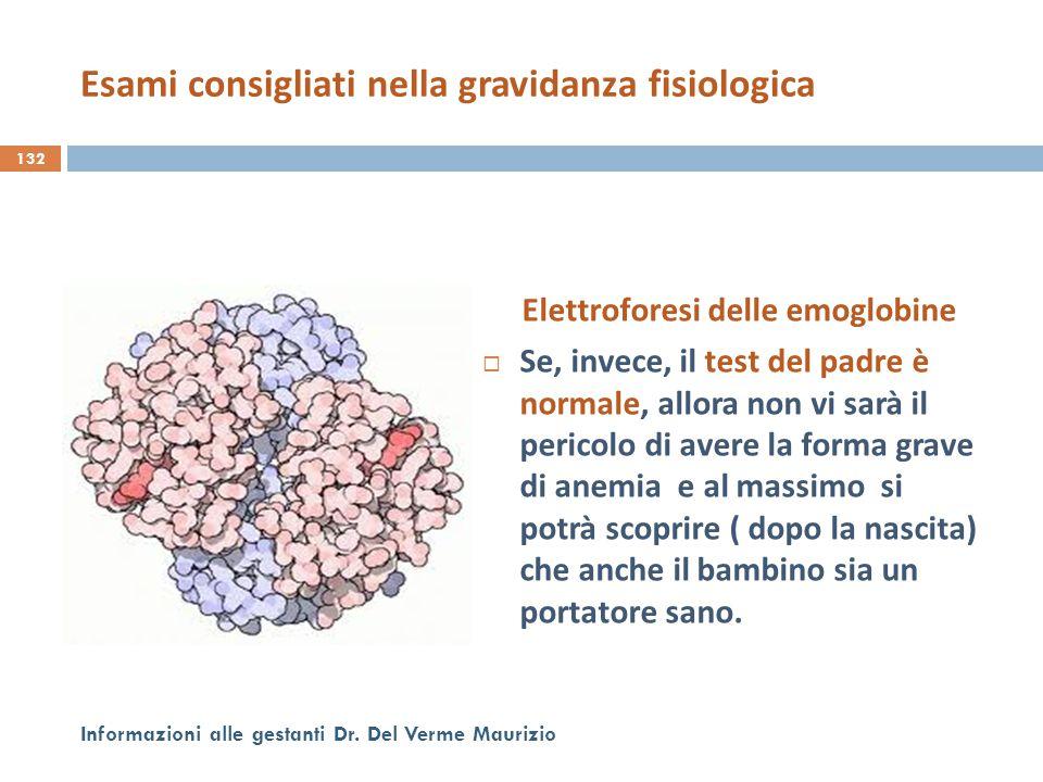 Elettroforesi delle emoglobine  Se, invece, il test del padre è normale, allora non vi sarà il pericolo di avere la forma grave di anemia e al massim