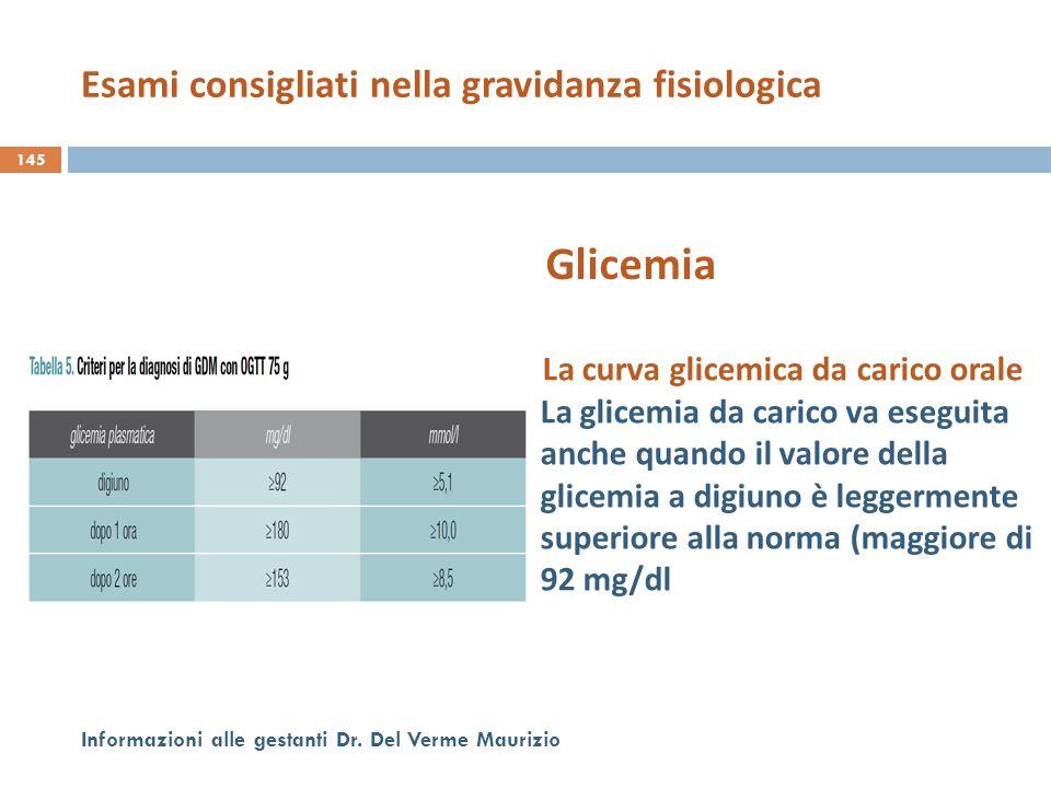 La curva glicemica da carico orale La glicemia da carico va eseguita anche quando il valore della glicemia a digiuno è leggermente superiore alla norm