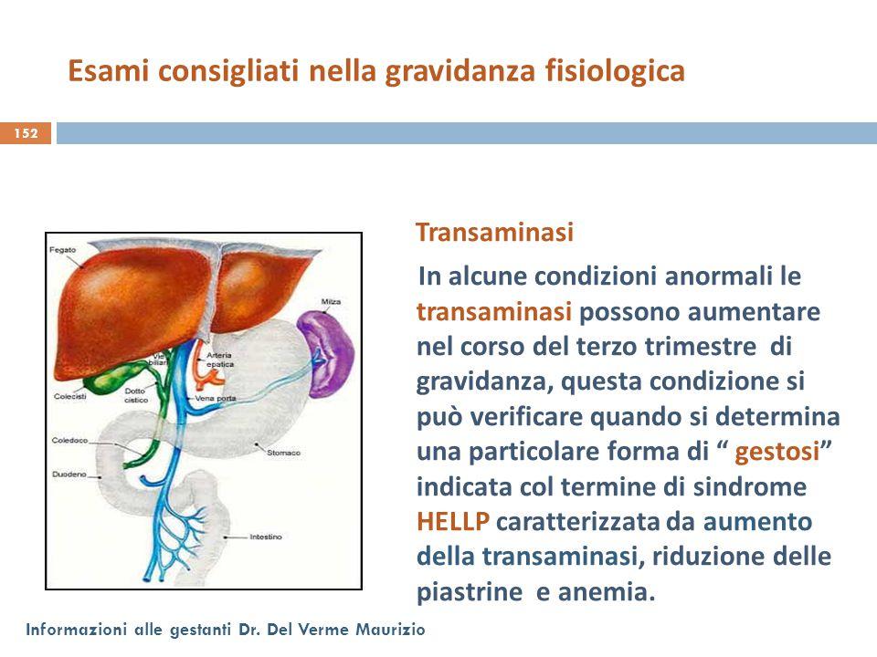 Transaminasi In alcune condizioni anormali le transaminasi possono aumentare nel corso del terzo trimestre di gravidanza, questa condizione si può ver