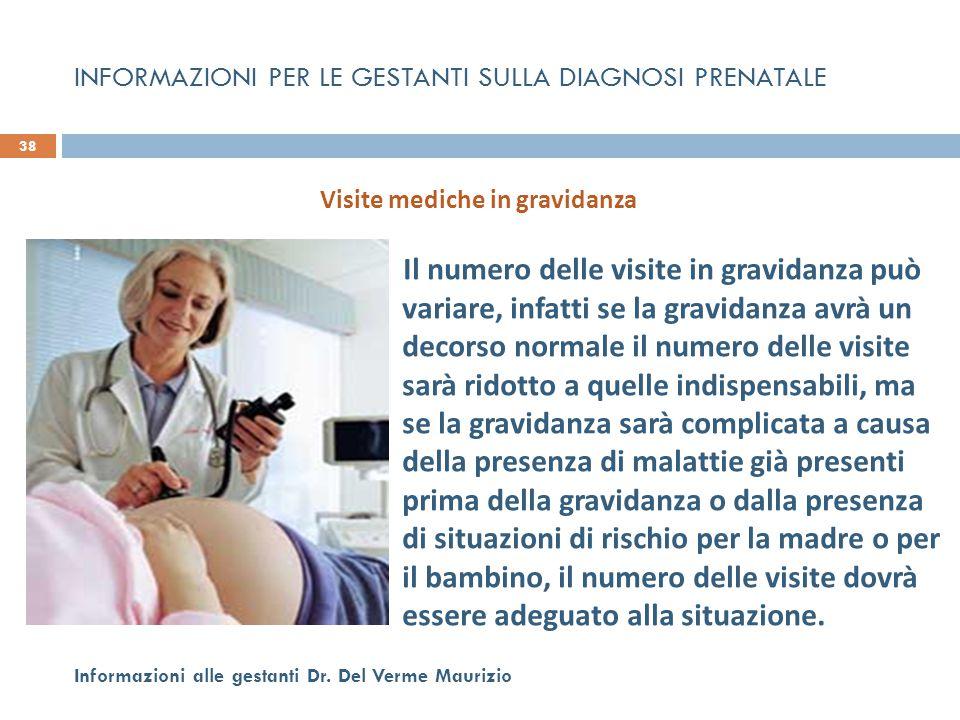 Il numero delle visite in gravidanza può variare, infatti se la gravidanza avrà un decorso normale il numero delle visite sarà ridotto a quelle indisp